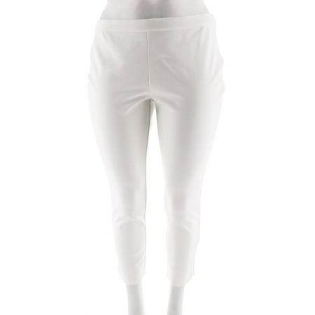 Side Zip Ankle Pants (Isaac Mizrahi Ponte Knit Side Zip Ankle Pants A260953)