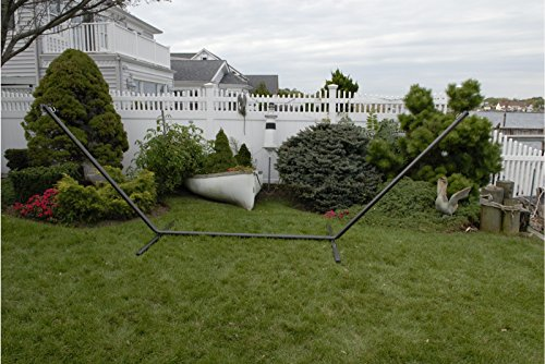 patio bliss hammock stand 15 ft galvanized steel black black