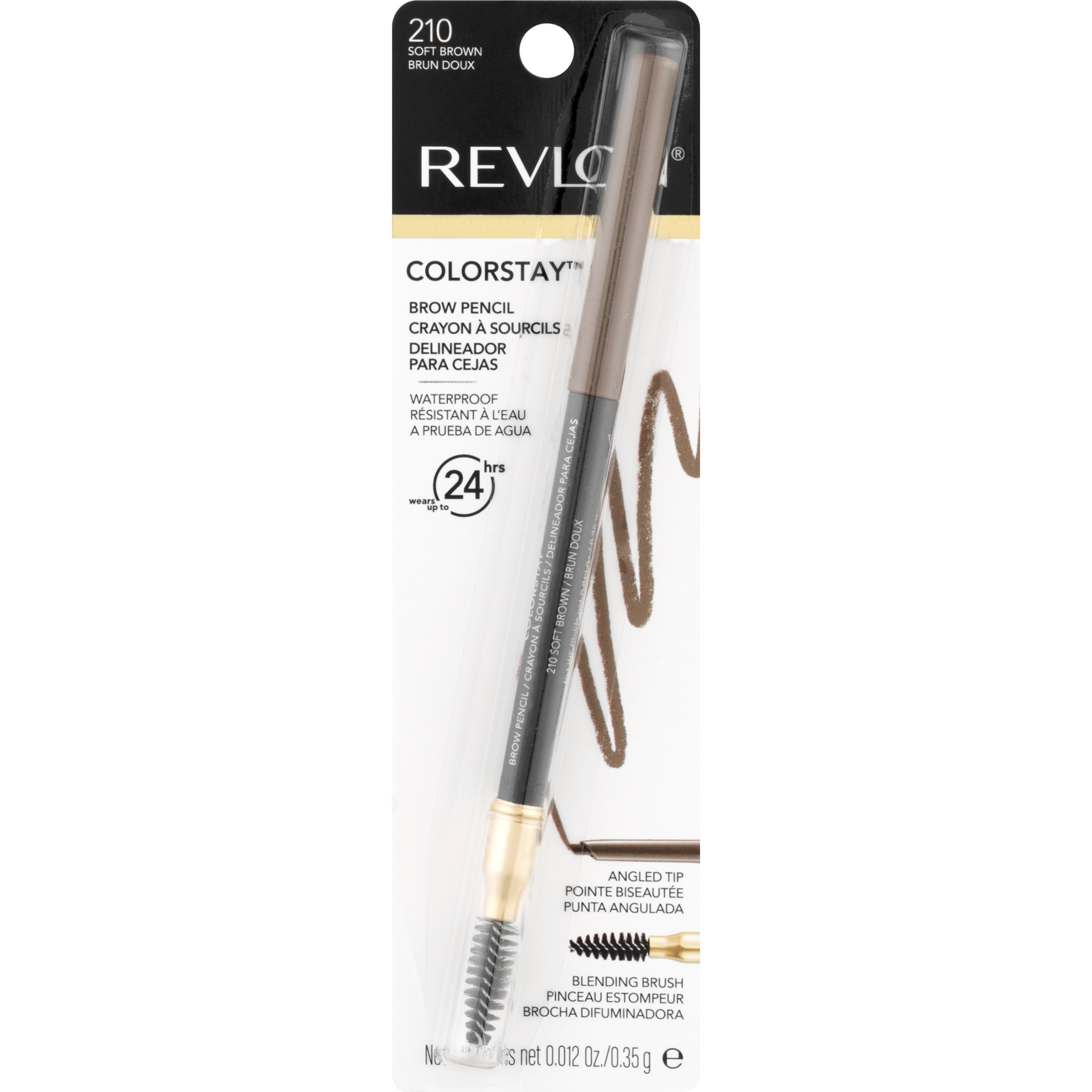 Revlon Colorstay Brow Pencil Waterproof Dark Brown Walmart