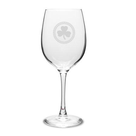 Shamrock Celtic Logo 16 oz Classic White Wine Glass