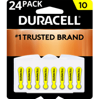 Duracell Hearing Aid Batteries with Easy-Fit Tab, Size 10, 24 Pack