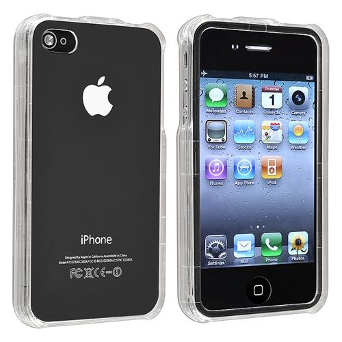 INSTEN 2 x Clear Crystal transparent Premium Case Cover for Apple iPhone 4/4S