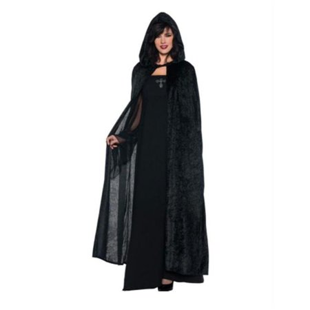 Hooded Cloak Black 55 Inches](Black Cloaks)