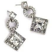 Sweet Romance  Art Deco Diamond Harlequin Wedding Earrings
