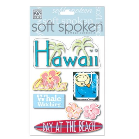 Soft Spoken Themed Embellishments, Hawaii, Soft Spoken embellishments are self-adhesive and dimensional By Me & My Big Ideas for $<!---->