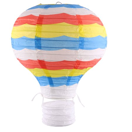 Paper Stripe Pattern DIY Hanging Hot Air Balloon Lantern Colorful 10 Inches Dia](Hot Air Balloon Lanterns)