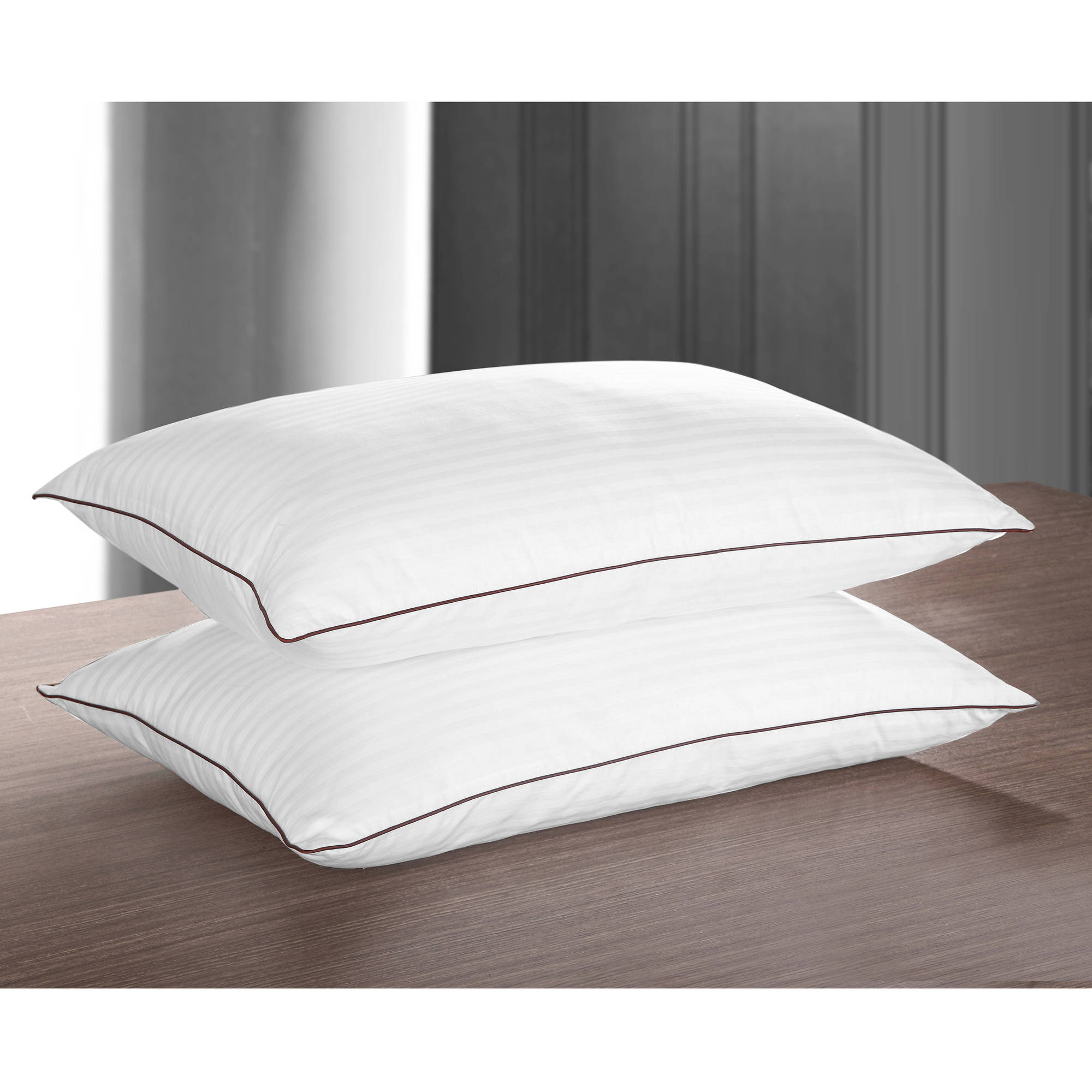 "Chic Home Oversized 20"" x 30"" 2pk Super Luxurious Down Alternative Overfilled Hotel Pillow, Hypoallergenic Fill"