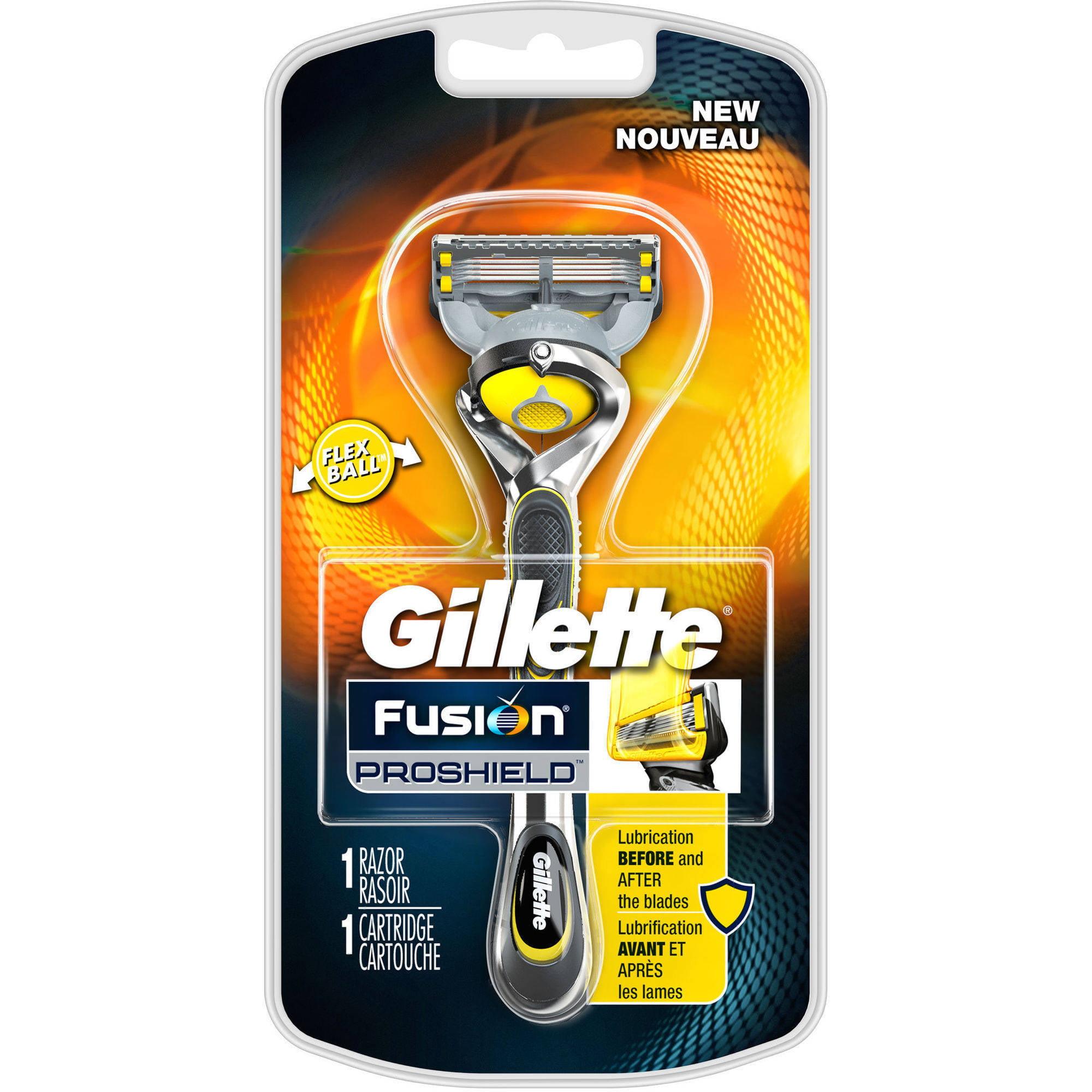 Gillette Fusion ProShield Men's Razor with Blade Refill, 2 pc