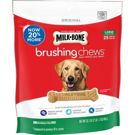 Milk-Bone Brushing Chews Daily Dental Dog Treats, Large, 33.7oz