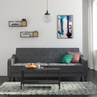 Walmart.com deals on Novogratz Vintage Tufted Velvet Split Back Futon
