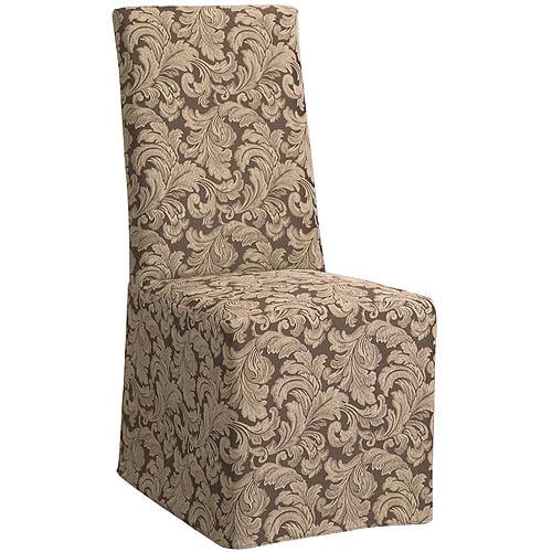 Sure Fit Scroll Long Dining Room Chair Slipcover Walmart Com Walmart Com