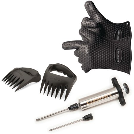 Image of Cuisinart® 7-Piece BBQ Pit Kit - Set Includeds Meat Shredding Claws, Silicone Gloves, Meat Injector With Replacement Tip