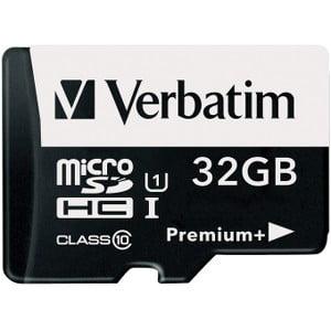 VER47041 Verbatim 32GB Pro 600X microSDHC Memory Card with Adapter UHS-I U3 Class 10