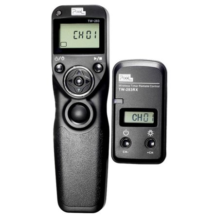 PIXEL TW-283/N3 LCD Wireless Shutter Release Timer Remote Control for Canon Canon10D,20D,30D,40D,50D,6D,60D,100D,300D.350D,400D,450D