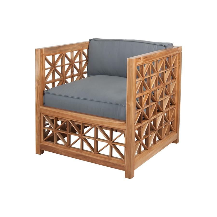 Guild Master 6517003ET Teak Lattice Chair In Euro Teak Oil