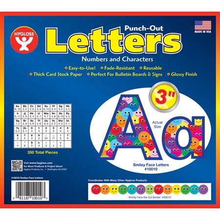 (3 Pk) 3In Punch Out Letters Smiley - image 1 of 1