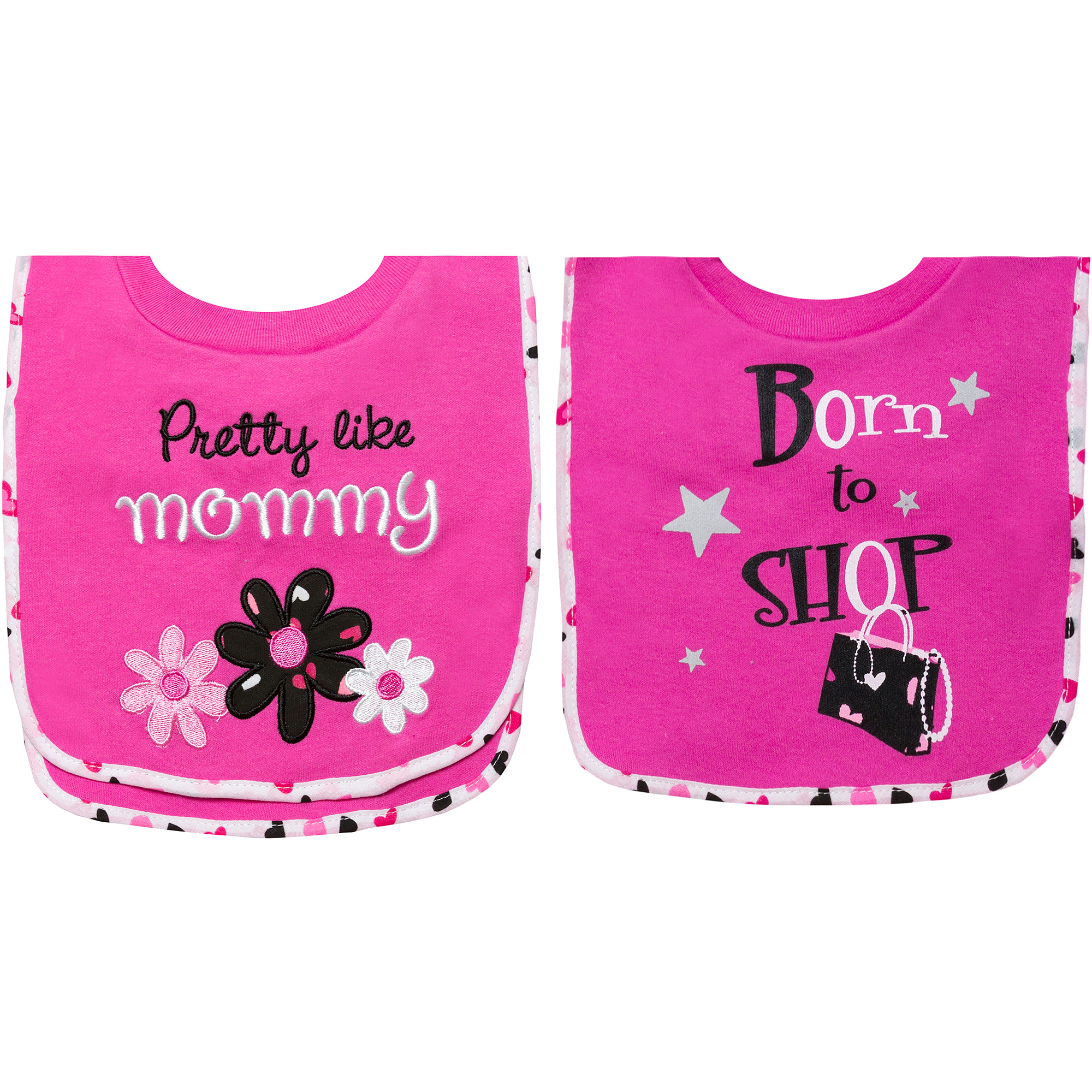 Tender Kisses Pretty Pull-Over Bibs, 2-Pack