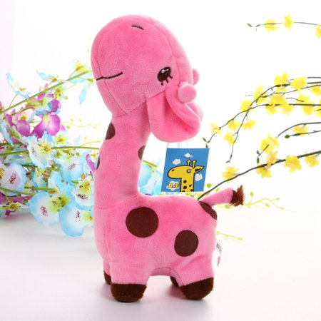 Cute Soft Animal Toy Giraffe Plush Doll Birthday Gift For kids 18cm (Cute Giraffe)