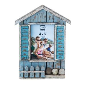 4x6 Cottage Cove Distressed Multi Color Wood Frame