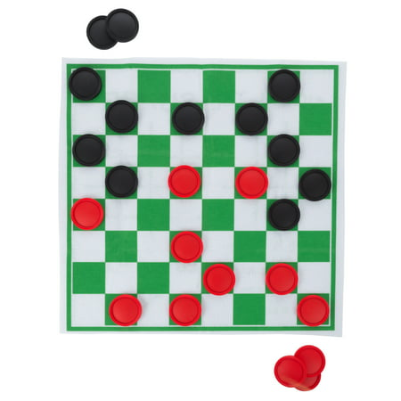 Giant Checkers and Tic Tac Toe Reversible Board Game Rug by Hey! Play!](Tic Tac Toe Scary Halloween)