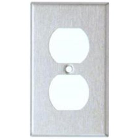 Morris Products 83730 Stainless Steel Metal Wall Plates Oversize 1 Gang Duplex Receptacle - image 1 of 1