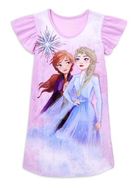 Frozen 2 Girls Exclusive Short Sleeve Pajama Nightgown, Sizes 4-14