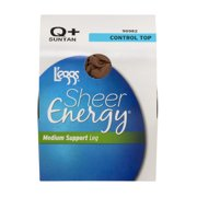 L'eggs Sheer Energy Medium Support Leg Control Top Suntan Q+, 1.0 PR