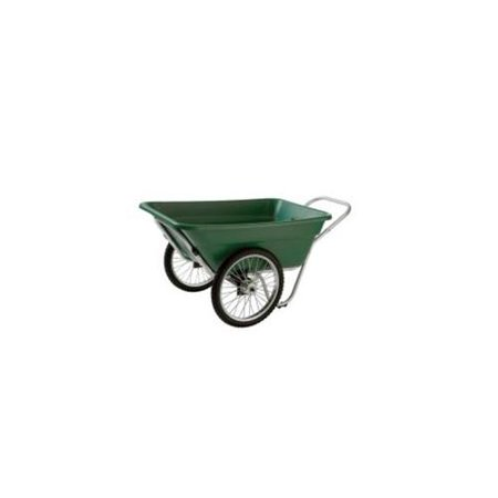 Smart Carts Contractor Grade Cart, 12 Cu. Ft. Tub, With 20 In. Spoke Wheels - Green