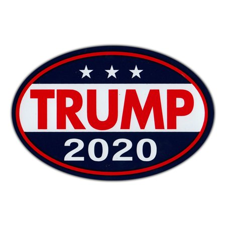 "Oval Shaped Magnet - Donald Trump For President 2020 - Republican Party Magnetic Bumper Sticker - 6"" x 4"""