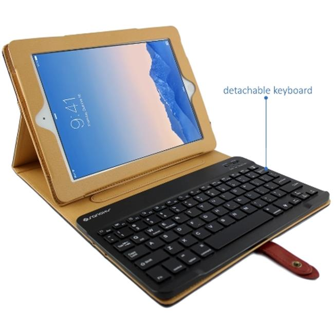 Sanoxy Buckle Folio Case Stand with Detachable Bluetooth Keyboard for Apple iPad 2, 3 & 4 - Vintage Black