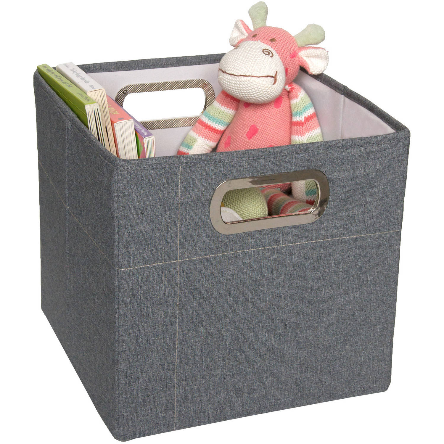 JJ Cole Tall Storage Box, Slate Heather