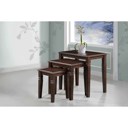 Golden 3-Piece Nesting Tables DTY Indoor Living Furniture Collection - Espresso