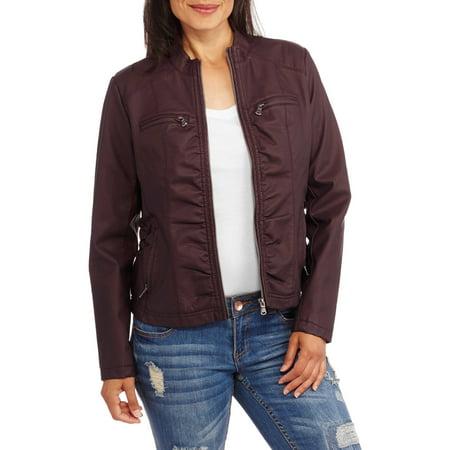 Maxwell Studio Women's Faux Leather Moto Jacket