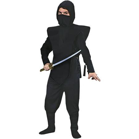 Black Ninja Complete Child Halloween - Black Ninja Costume For Kids