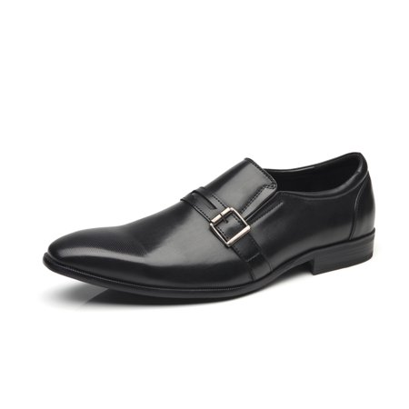 Faranzi Faranzi Men Dress Shoes Slip On Buckle Loafer Shoes For