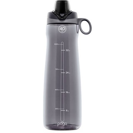 Pogo BPA-Free Plastic Water Bottle with Chug Lid, 40 oz