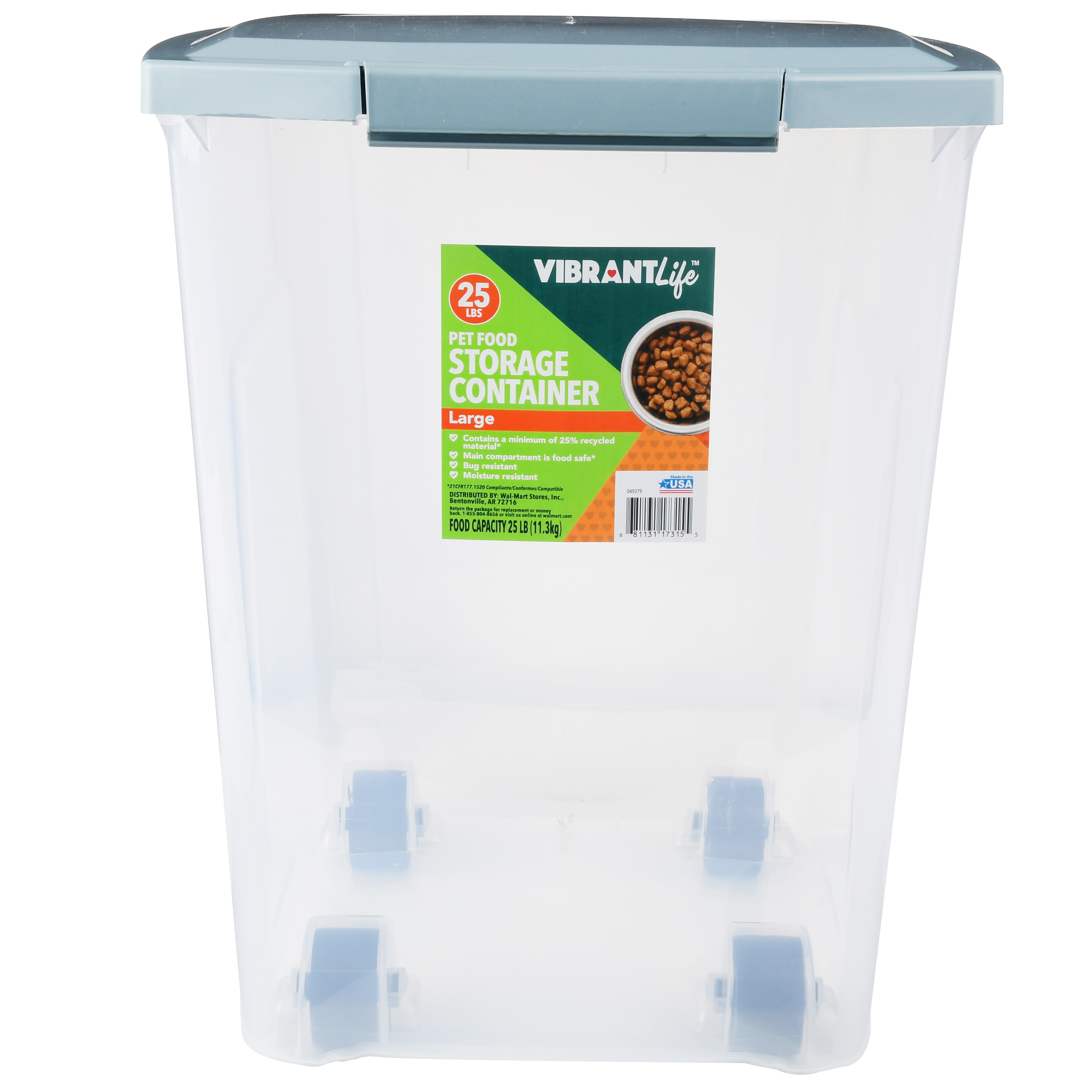 Vibrant Life Pet Food Storage, 25 lb