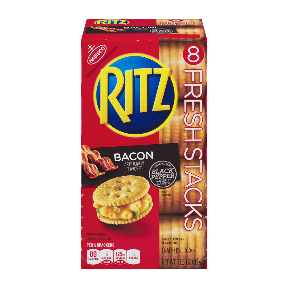 Nabisco Ritz Crackers Bacon - 8 PK, 11.5 OZ