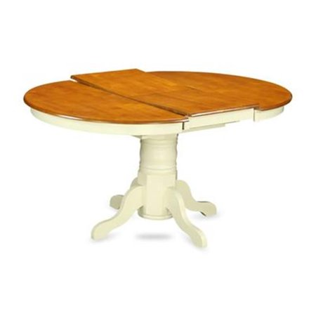 Avon Oval Table with 18 in. Butterfly Leaf - Buttermilk & Cherry
