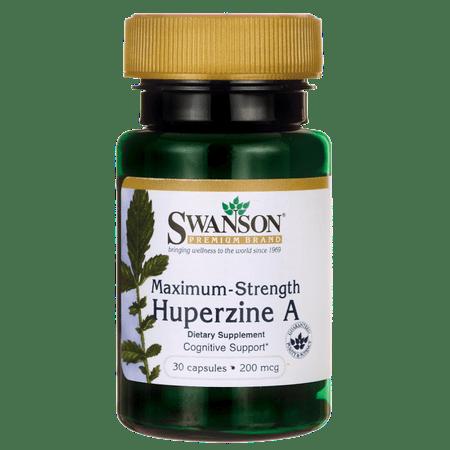 Swanson Maximum-Strength Huperzine A 200 mcg 30 Caps