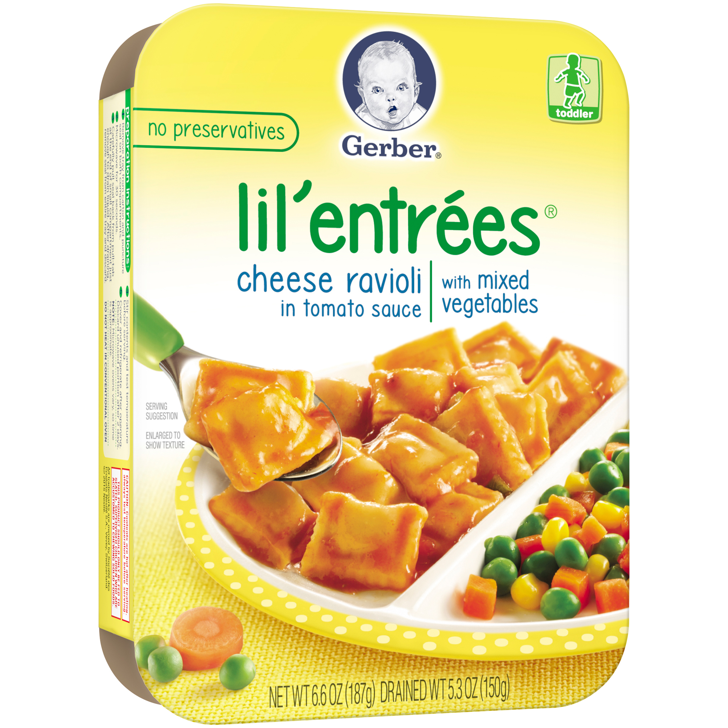 Gerber�� Lil' Entrees�� Cheese Ravioli in Tomato Sauce, 6.6 oz