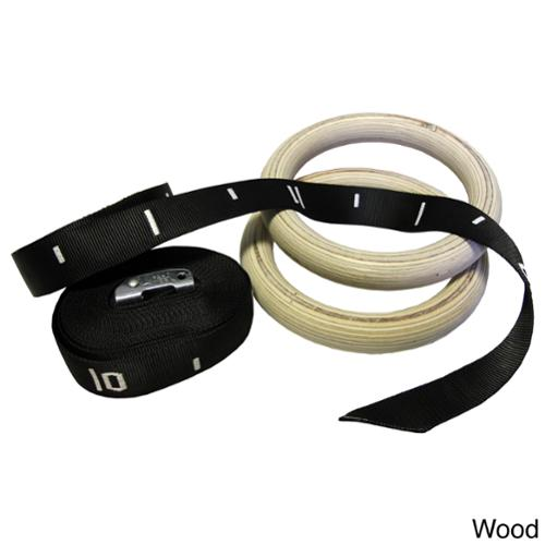 Valor Fitness Gym Training Rings Wood
