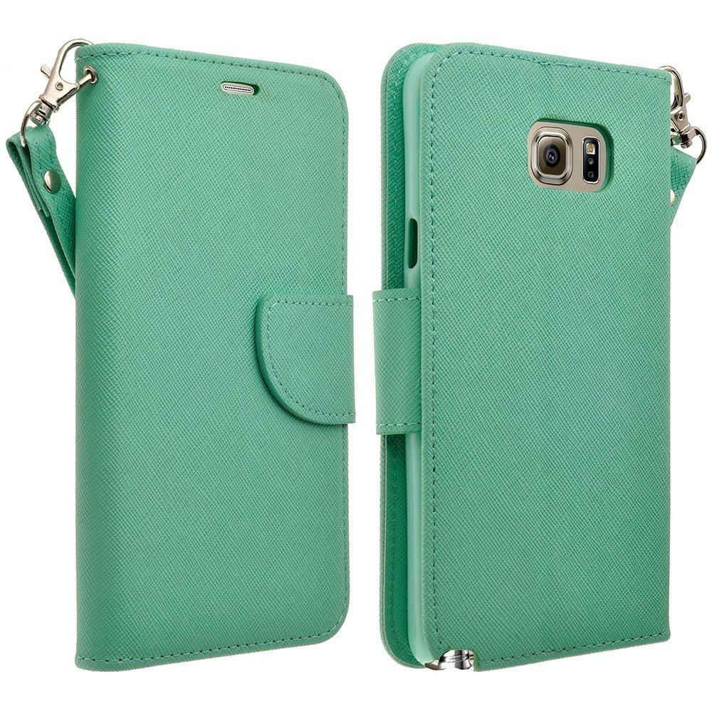 Galaxy S6 Edge Plus Case, Slim Folio [Kickstand] Pu Leather Wallet Case with ID&Credit Card Slot Phone Case for Samsung Galaxy S6 Edge Plus - Teal