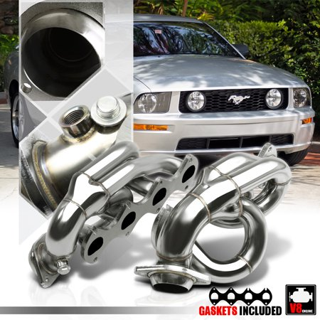 09 Mustang - Stainless Steel Shorty Exhaust Header Manifold for 05-10 Ford Mustang 4.6 281 V8 06 07 08 09