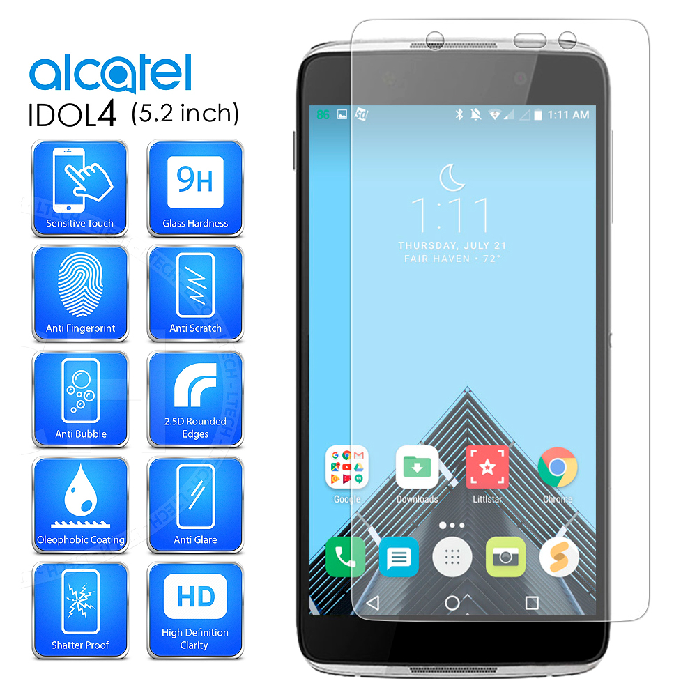 Arc® Alcatel OneTouch iDOL 4; Nitro 49; 6055 Tempered Glass Screen Protector