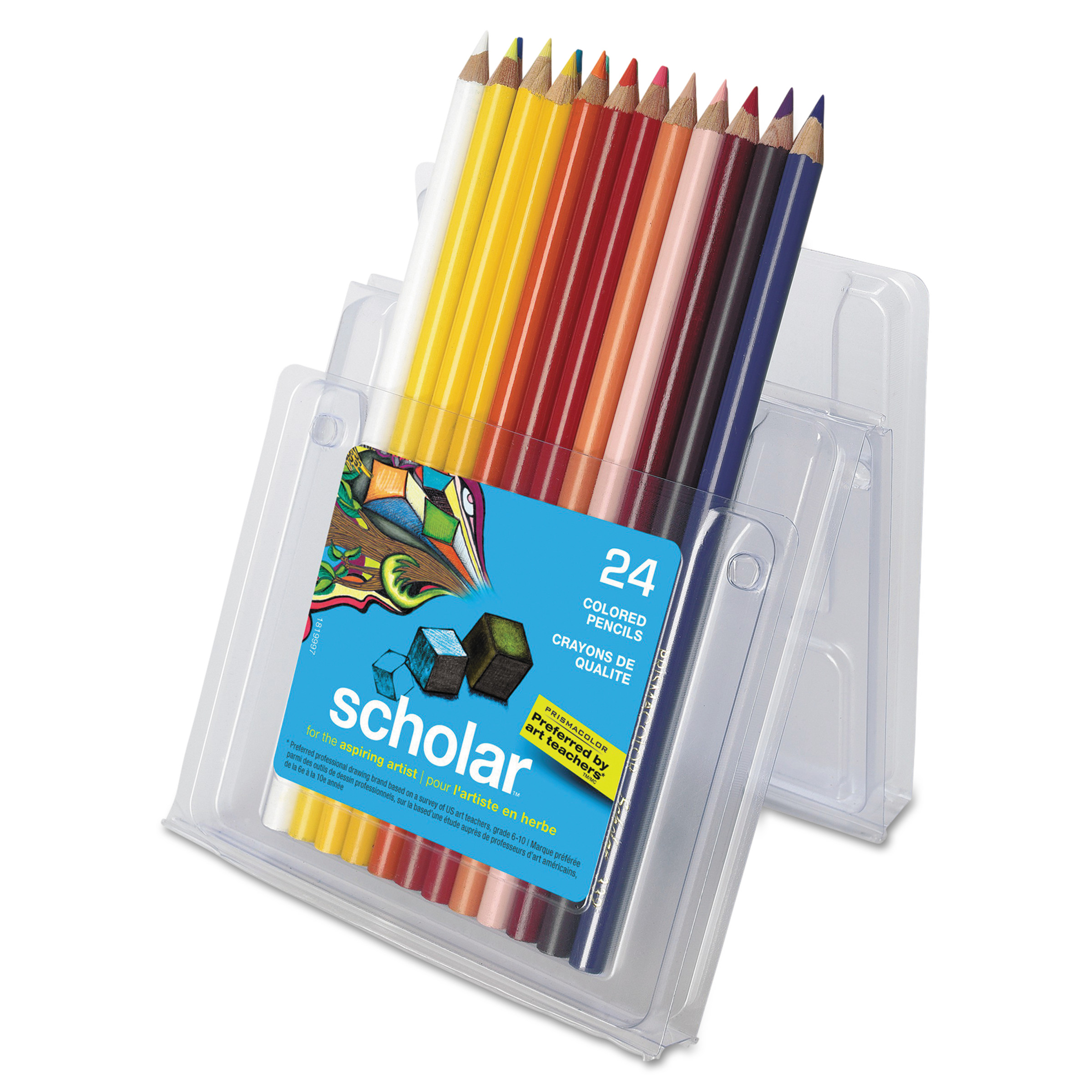 Prismacolor Scholar Colored Pencils, 24 Assorted Colors