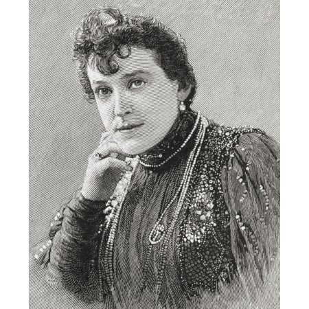 - Alma Stuart Stanley 1853 - 1931 English Actress And Singer From The Strand Magazine Published 1897 Canvas Art - Ken Welsh  Design Pics (14 x 17)
