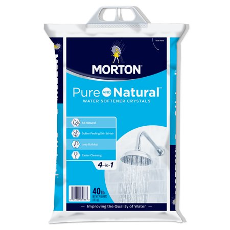 Morton® Pure and Natural® Water Softener Salt Crystals, 40 lb.