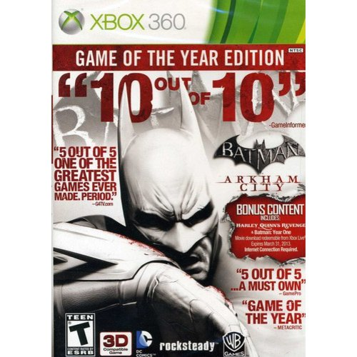 Batman: Arkham City: Game of the Year Edition (Xbox 360) Warner Bros., 883929238842