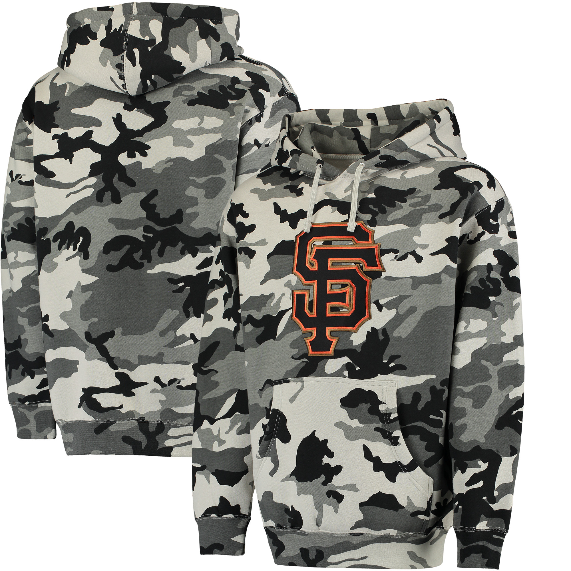 San Francisco Giants Stitches Pullover Hoodie - Black/Camo